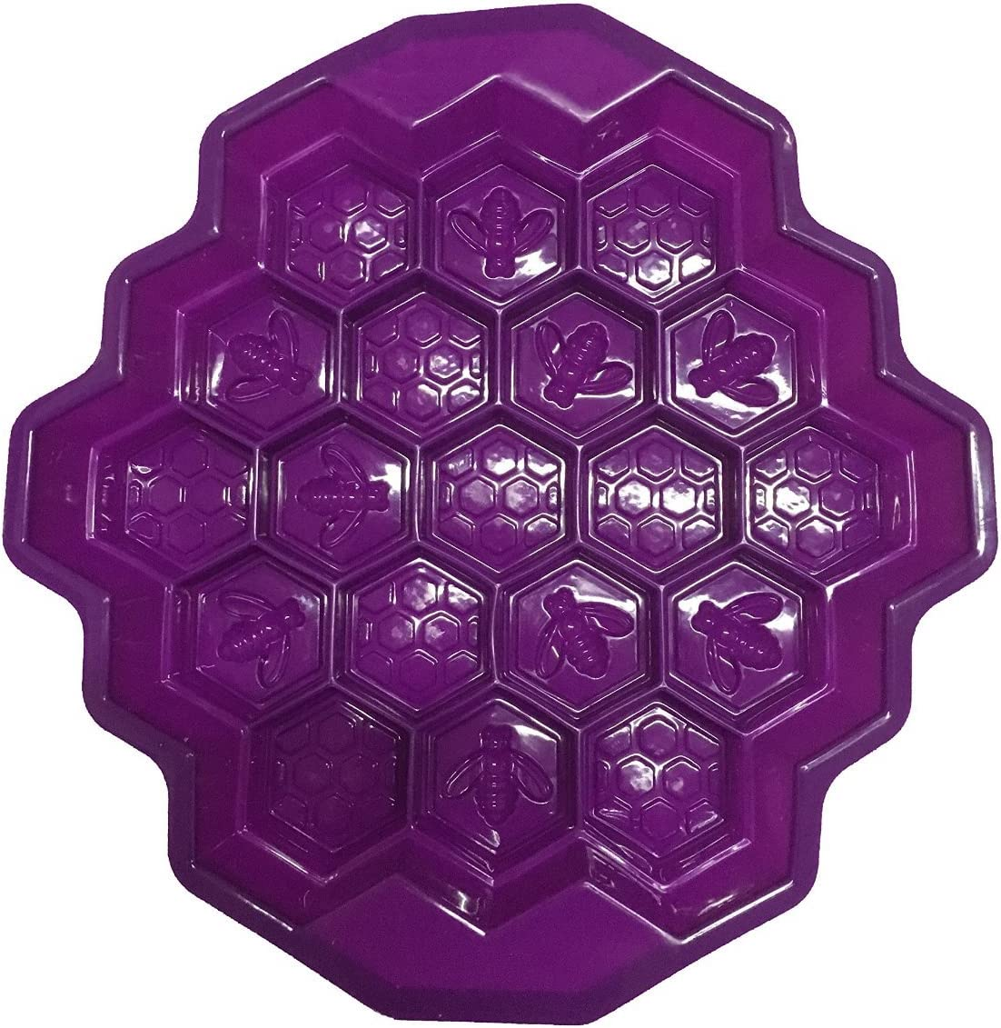 Bee Honeycomb Silicone Fondant Mould Cake Soap Candy Chocolate Biscuit Mold BO