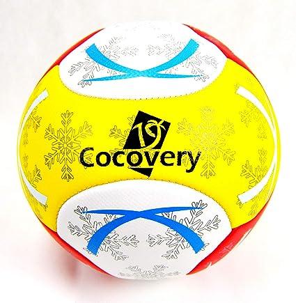 Balón Fútbol para Playa-Foam-Cocovery19 (Amarillo): Amazon.es ...