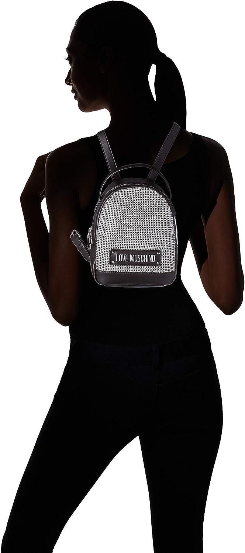 Love Moschino Jc4052pp1a - Bolsos mochila Mujer Plateado (Argento Negro)