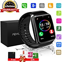 Smart Watches, Bluetooth Smart Watch Android Touchscreen with Camera, Phone Smartwatch with SIM Card Slot Waterproof Smart Wrist Watch Campatible Cell Phone IOS iPhone Samsung for Man Women Kids