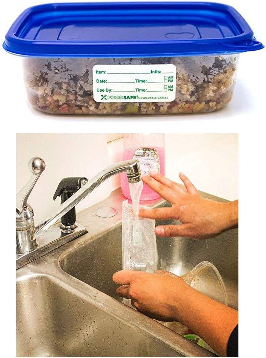 1 * 2inch TANGGER 1250 PCS Etichette Alimentari da Cucina Etichetta Adesiva,Rimovibile Vita Alimentare Rotazione Preparazione Utilizzare Per Adesivi