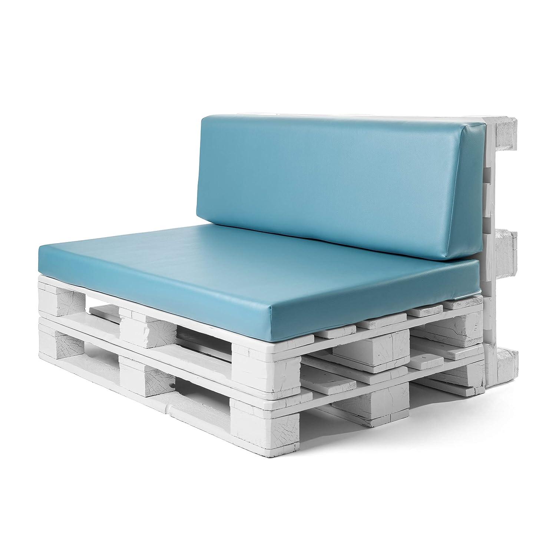 SUENOSZZZ - Conjunto colchoneta para Sofas de Palet y Respaldo Turquesa (1 x Unidad) Cojin Relleno con Espuma. | Cojines para Chill out, Interior y ...