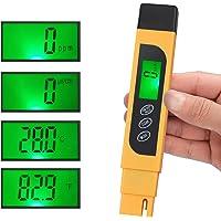 CAMWAY Digitale TDS Tester Pen Draagbare Waterkwaliteit TDS EC & Temperatuur Meter Zuiverheid Meter TEMP PPM Test…