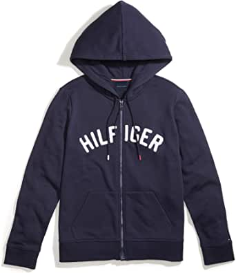Tommy Hilfiger Women's Adaptive Hoodie Sweatshirt with Magnetic Zipper Closure
