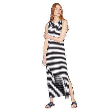 cute cheap affordable price no sale tax MONOPRIX FEMME - Robe longue marinière sans manches - Femme ...