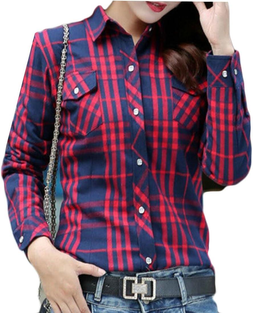 M&S&W - Camisa de Forro Polar con Botones y Franela para Mujer 12 Large: Amazon.es: Ropa y accesorios