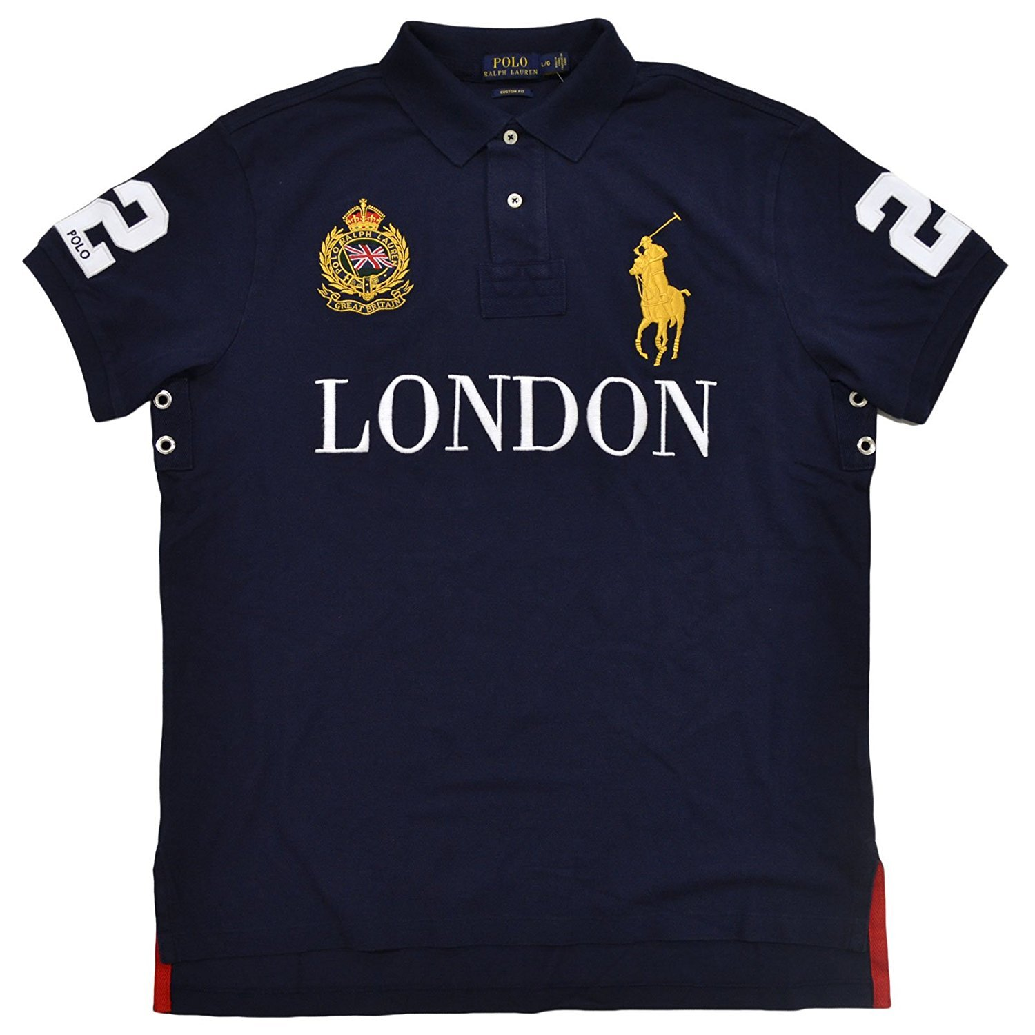 599ca17d Polo Ralph Lauren Mens Big Pony City Custom Mesh Polo (French Navy London,  X-Large) at Amazon Men's Clothing store: