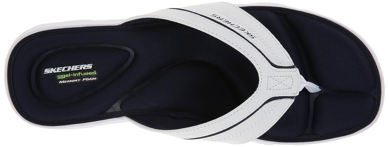 c74c0afcb410 Skechers Sport Men s Wind Swell Sand Diver Sandal (14 D(M) US) White Navy   Amazon.co.uk  Shoes   Bags