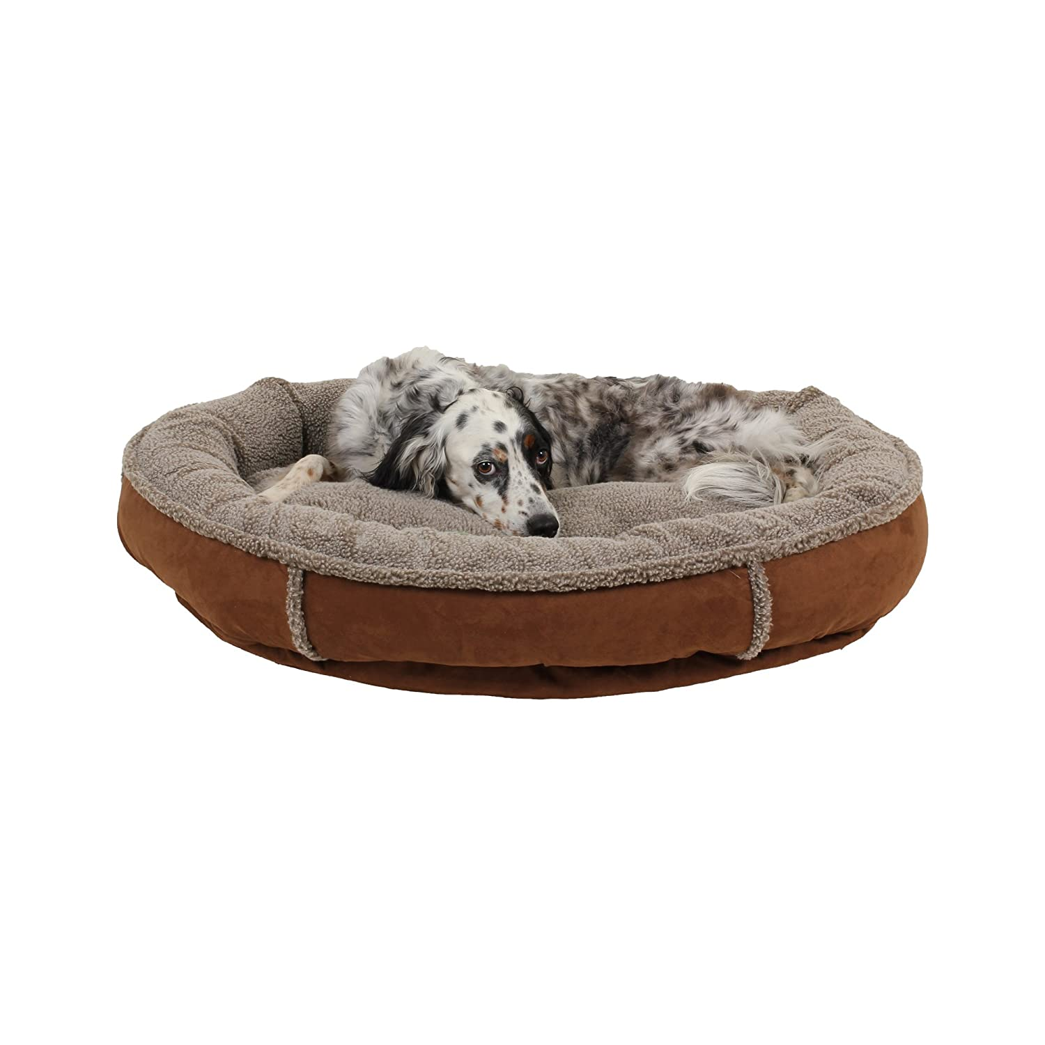 Brown 36\ Brown 36\ Carolina Pet 01455 CPC Faux Suede and Tipped Berber 36  Round Comfy Cup, Brown