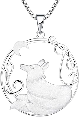 """YFN Zodiac Necklace ,925 Sterling Silver CZ Constellation Pendant Necklace for Women /""""18+2/"""""""
