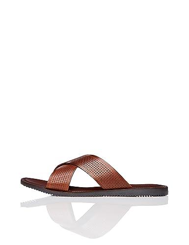 fe39d418d0619 find. Men s Woven Crossover Sandals  Amazon.co.uk  Shoes   Bags