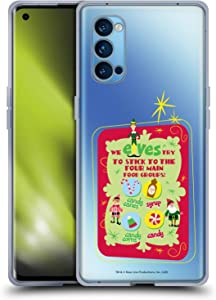 Head Case Designs Officially Licensed Elf Movie Food Groups Graphics 1 Soft Gel Case Compatible with Oppo Reno 4 Pro 5G
