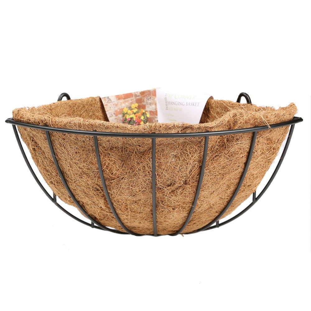 Botanico Round Corner Plant Basket - Decorative Garden Flower Plant Holder - 10