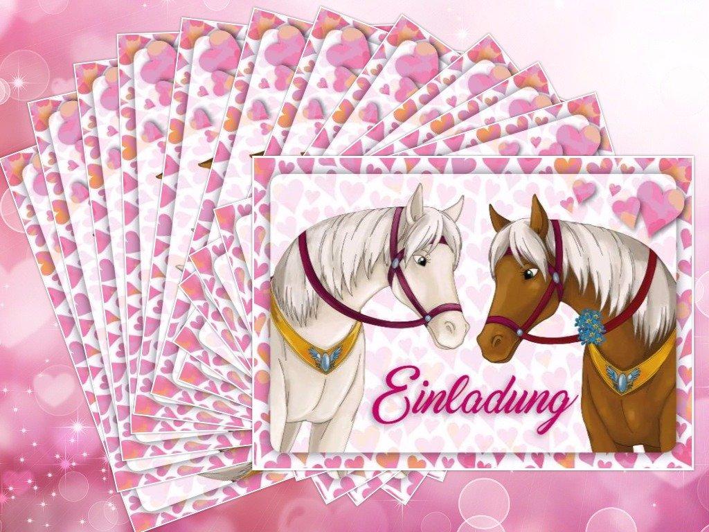 Juego de 12 invitaciones de caballos (1)/Cumpleaños ...