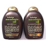 Organix Hydrating Macadamia Oil Shampoo and Conditioner Set - 13 Fl Oz. - Macadamia Oil instantly Hydrate and Smooth Parched, Dry Hair