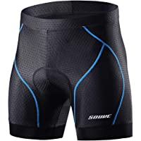 Souke Sports Men's Cycling Underwear Shorts 4D Padded Bike Bicycle MTB Liner Shorts with Anti-Slip Leg Grips