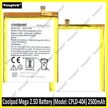 Voopick™ Original  Coolpad Mega 2 5D Battery (CPLD-404) 2500mAh Replacement  Battery Parts
