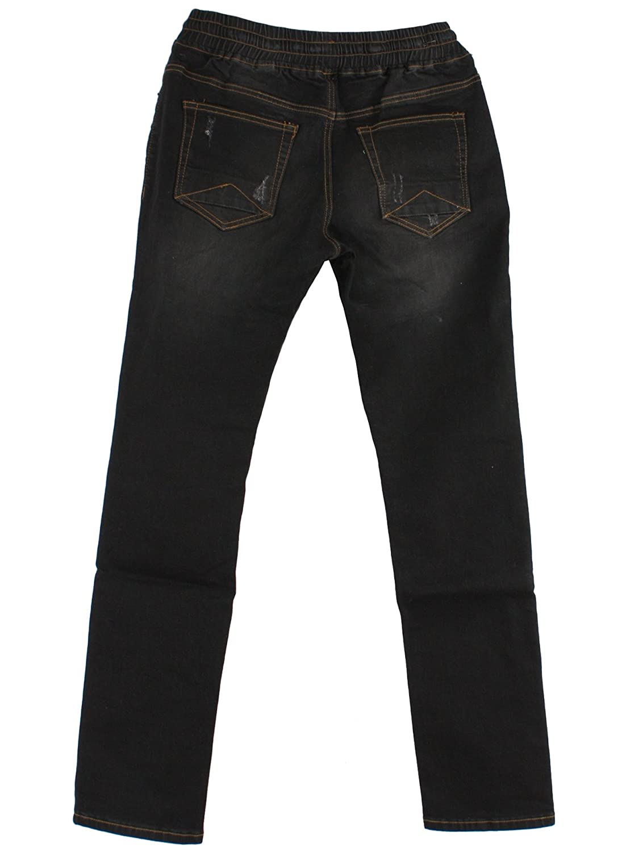 T579 Comfortable Waist Band Denim Jeans Style XL~3XL Plus Size Long Pants