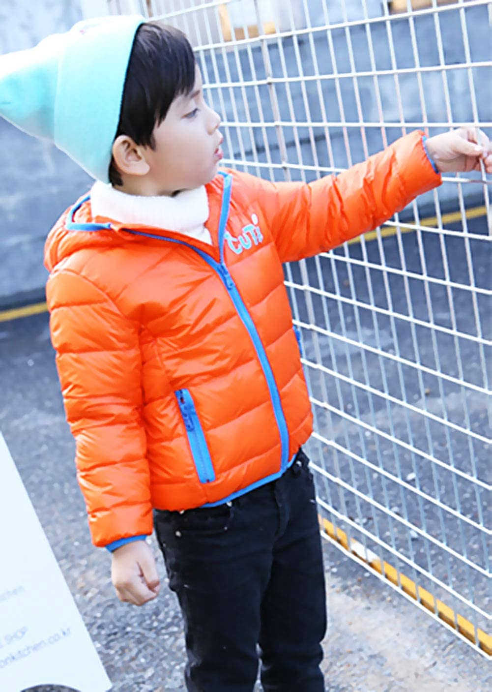 Happy Cherry Unisex Kids Parka Hooded Down Coat Snowsuit Autumn Winter Outwear