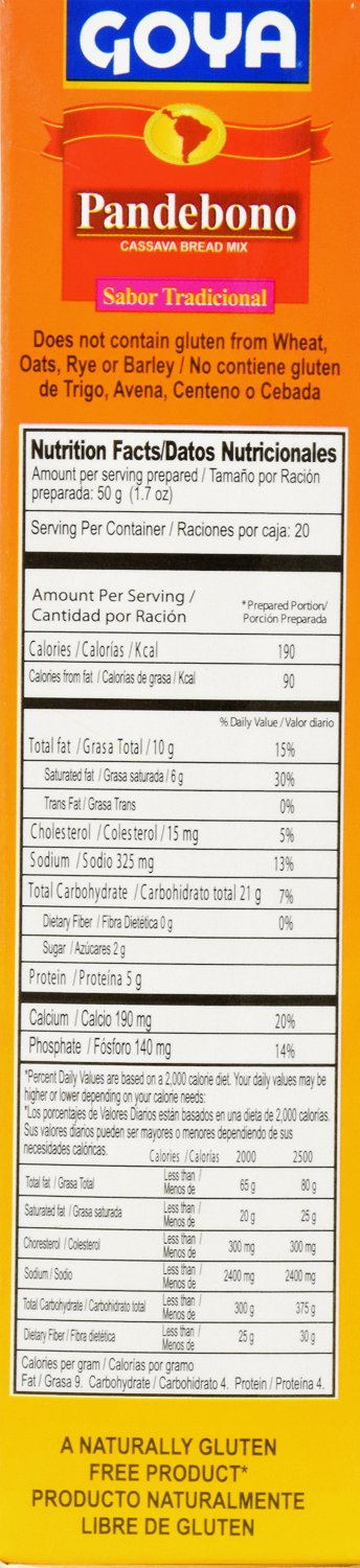 Amazon.com : Goya Foods Pandebono Traditional Cassava Bread Mix, 14.1 Ounce (Pack of 20) : Grocery & Gourmet Food