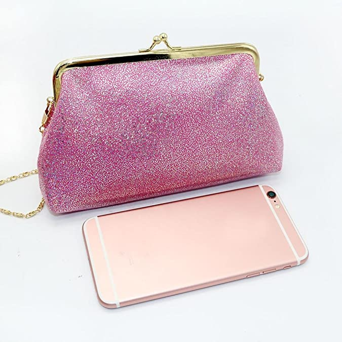 11f94292f9df Amazon.com  Clearance! Women Small Shining Sparkling Hasp Wallet Purse  Clutch Bag (Black)  Shoes
