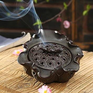 Sándalo estufa y # xFF0 C; Hecho a mano de cerámica quemador de incienso y # xFF0 C; aromaterapia horno para decoración del hogar: Amazon.es: Hogar