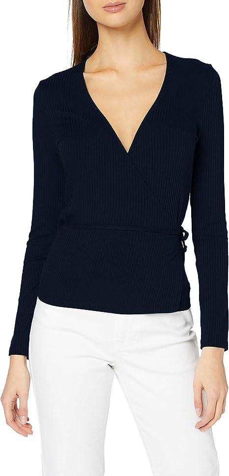 Marke Damen Lang/ärmeliges T-Shirt mit rundem Ausschnitt find
