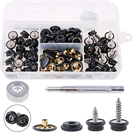 Snap Fastener Stainless Steel Canvas Boat Screw Press Stud Boat Tools Kit 75* Boat Parts & Accessories