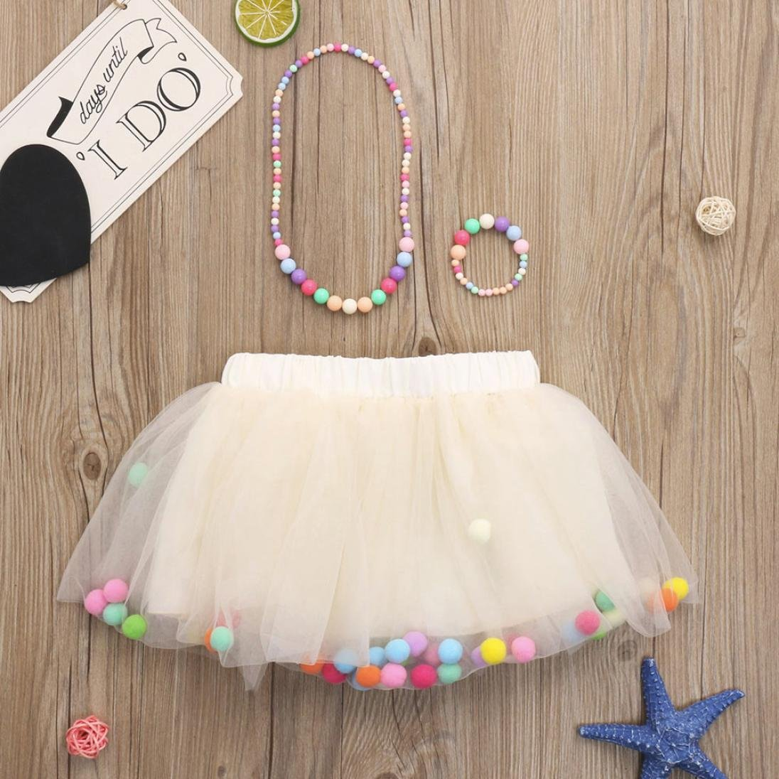 Winkey 3Pcs Baby Girls Kids Tutu Ballet Skirts+Bracelet+Necklace Party Set Red