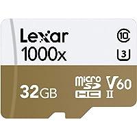 Lexar Professional 1000x microSDHC 32GB UHS-II/U3 (Up to 150MB/s Read) W/USB 3.0 Reader Flash Memory Card LSDMI32GCBNL1000R