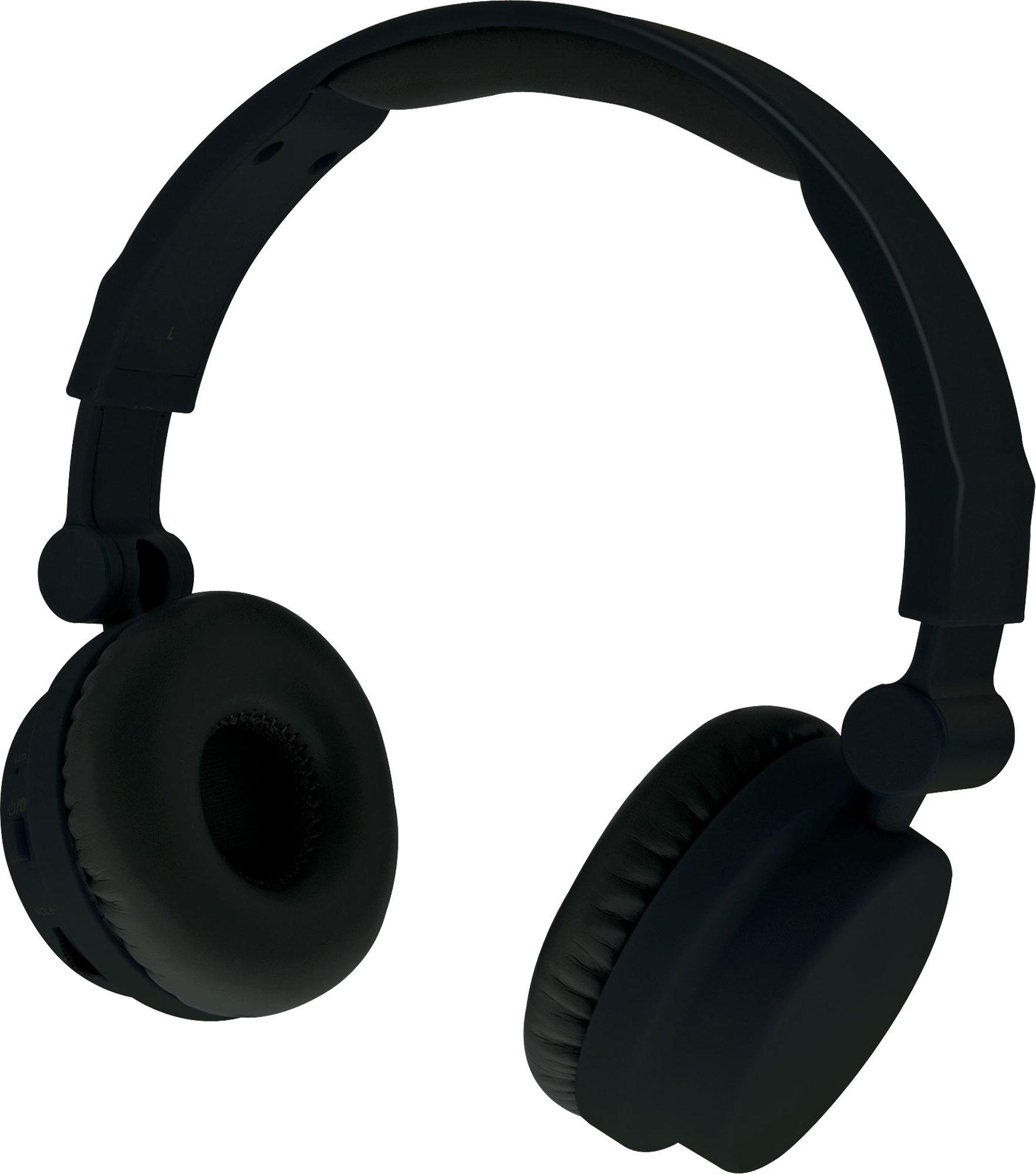 iLive iAHBT45B On-Ear Wireless Touch Headphones Matte Black