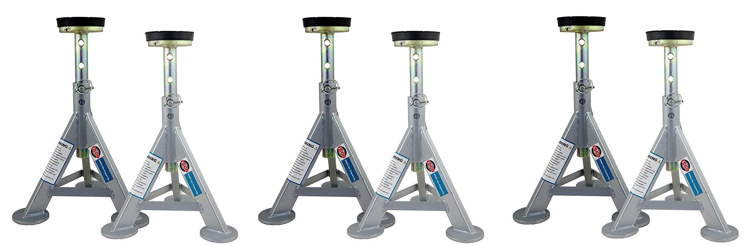 ESCO 10498 Jack Stands, 3 Ton Capacity, Pair of 2 Stands (Pack of 2) (3 X Pack of 2)