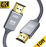 4K HDMI Cable 3M, Snowkids HDMI 2.0 Cable(4K HDR@60Hz,2560x1440 @144hz) 18Gbps Ultra High Speed HDMI Cord Nylon Braided Wire 4K, 3D, 2160P, 1080P, Ethernet 4K Resolution Compatible with PS4/3 PC