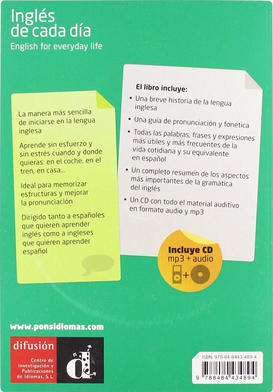 Inglés de cada día CdMp3, nueva edición Pons - De Cada Dia: Amazon.es: Editorial: Libros