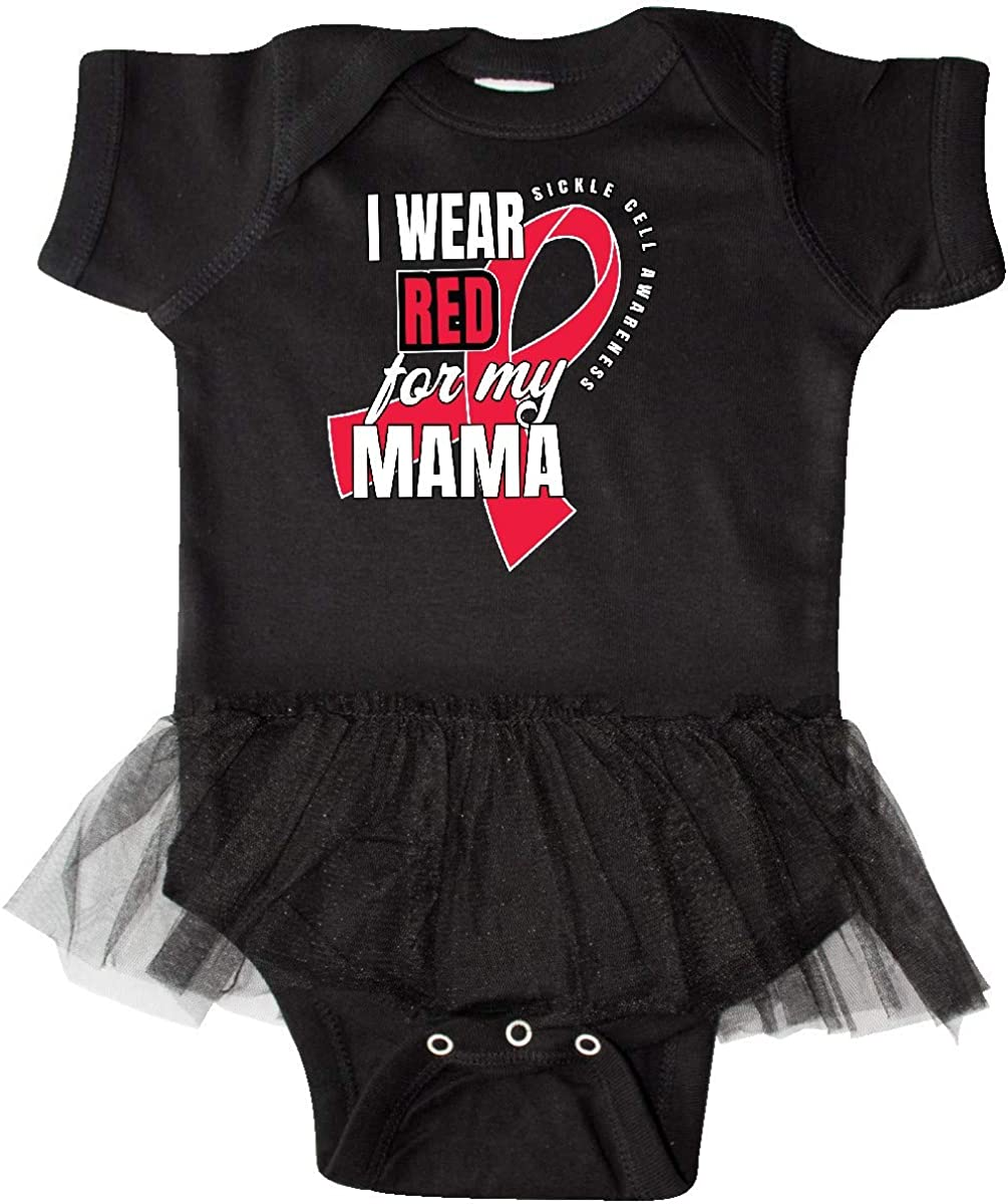 inktastic Sickle Cell Awareness I Wear Red for My Mama Infant Tutu Bodysuit