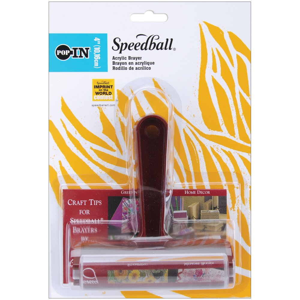 Speedball 4-Inch Pop-In Acrylic Roller Brayer Speedball Art Products SB41234