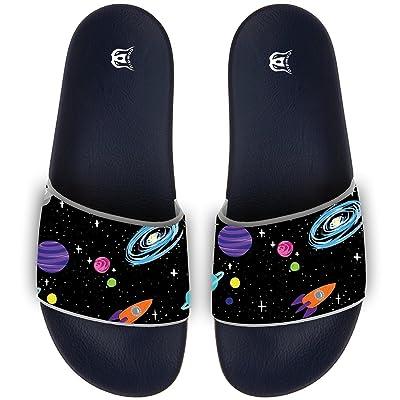 Cute Cartoon Universe Slippers Skid-proof Indoor Outdoor Flat Flip Flops Beach Pool Slide Sandals For Men Women