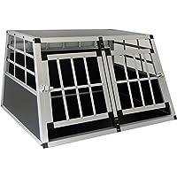 Carparts-Online 27896 Alu Hunde Tier Reise Auto Transport Box mit Doppeltür XL 89x69x50cm