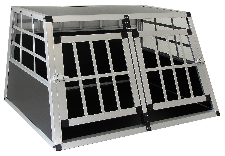 ALU HUNDE TIER REISE AUTO TRANSPORT BOX MIT DOPPELTÜR XL 89x69x50cm Carparts-Online GmbH
