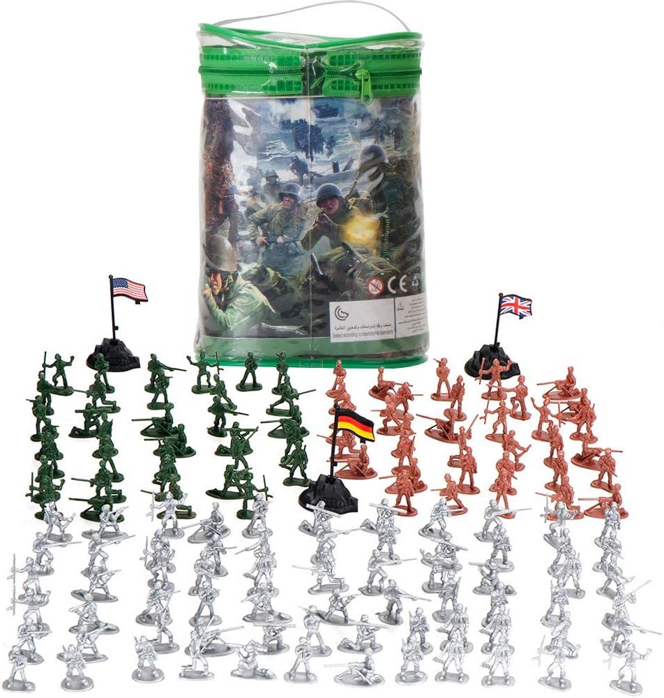 LBLA 300 Piezas Set Figuras de Soldados Militares Soldados De Juguete De Plástico Los Soldados de Juguete del Ejército para Niños: Amazon.es: Juguetes y juegos