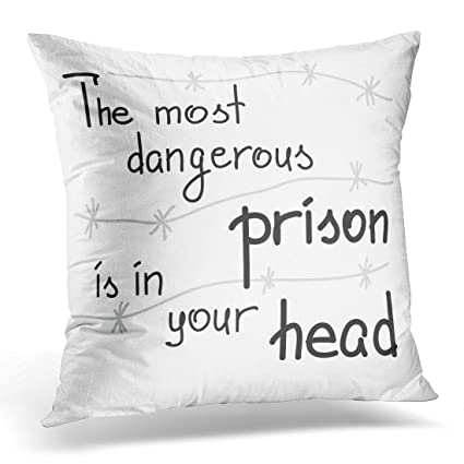 Amazon Sdamase Throw Pillow Cover The Most Dangerous Prison Is Delectable Pillow That Covers Your Head