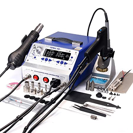 YIHUA 948-II 4 in 1 Hot Air Rework Soldering Iron and ...