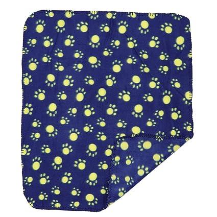 UEETEK Manta de mascota para perro gato, de doble cara Mantas de lana para dormir