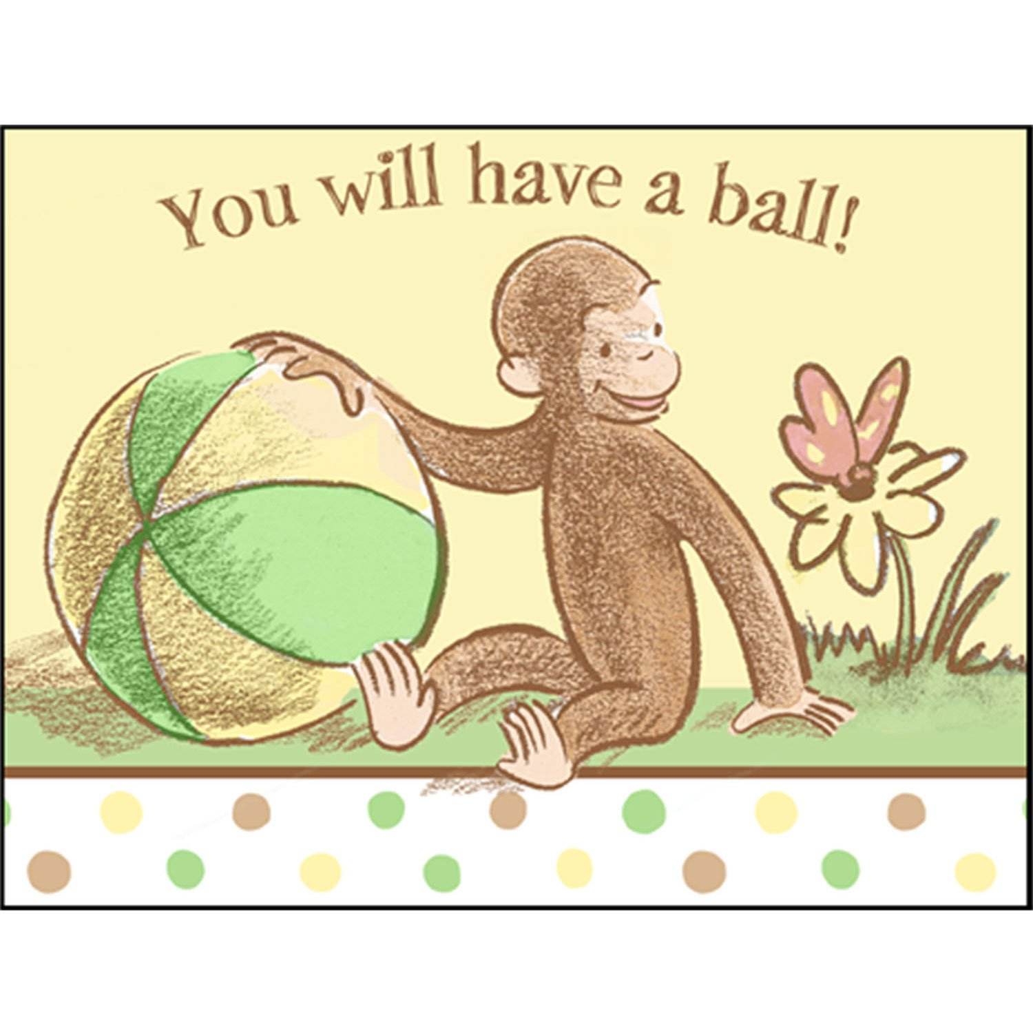 Amazon.com: Curious George Baby Shower Invitations w/ Envelopes (8ct ...