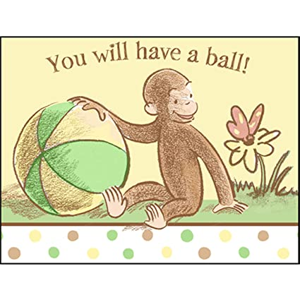 Amazon curious george baby shower invitations w envelopes 8ct curious george baby shower invitations w envelopes 8ct filmwisefo