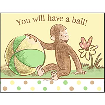 Amazon curious george baby shower invitations w envelopes 8ct curious george baby shower invitations w envelopes 8ct filmwisefo Image collections
