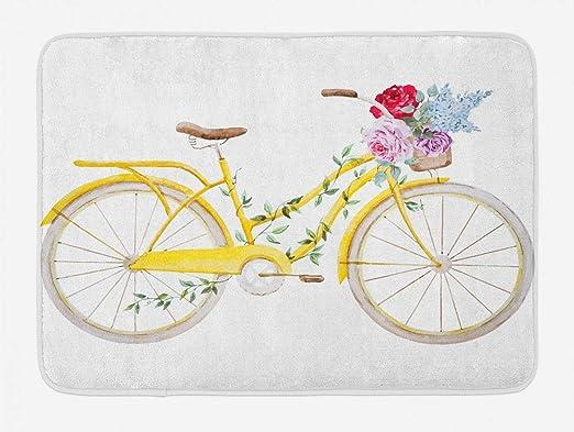 FANCYDAY Alfombrilla de baño Vintage, Bicicleta con Efecto de ...