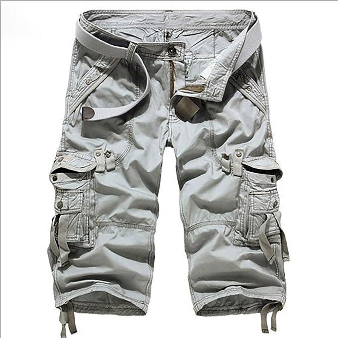 7ef20ddf4ac Hombre Pantalones Cortos de Cargo Camo Camuflaje Bermuda Shorts para Verano  Multi-Bolsillos: Amazon.es: Ropa y accesorios