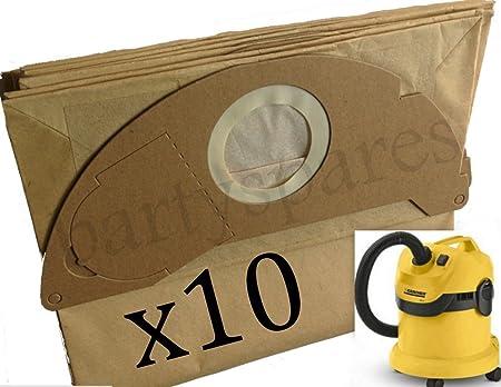 bartyspares® 10 x Bolsas de polvo fuertes para aspiradora Karcher WD2.200 MV2 IPX4 WD2240 Hoover: Amazon.es: Hogar