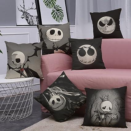 Amazon Com Nightmare Before Christmas Horror Skull Throw Pillow